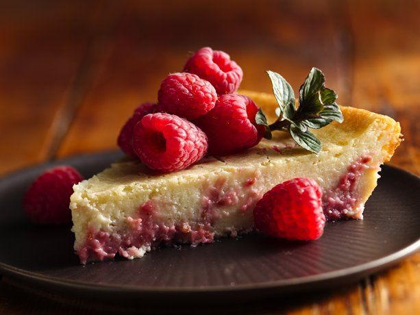This highly rated berry concoction is one of Betty's most popular cheesecake recipes. The crust is made with Bisquick, so you know it's super simple! Fresh raspberries add the perfect sweet-tart flavor.