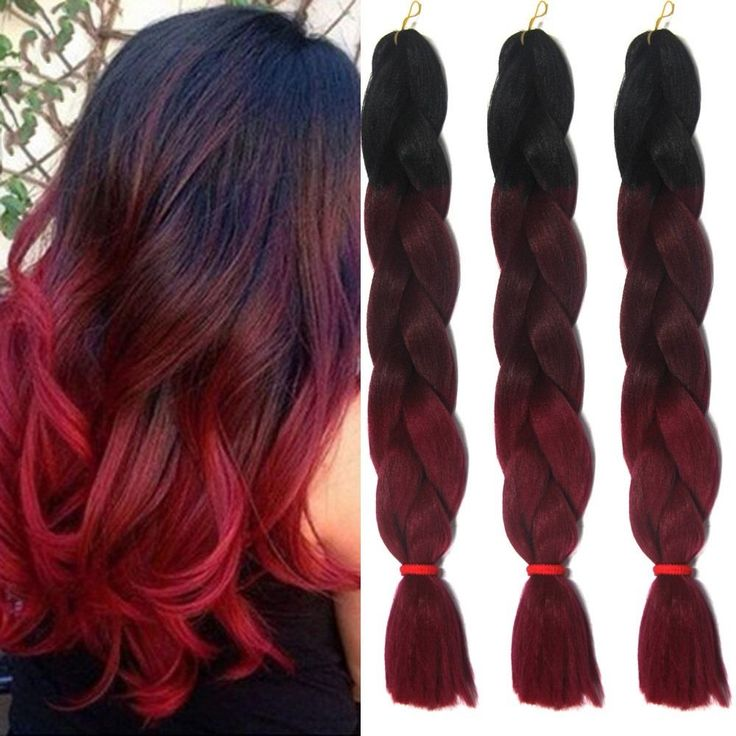 58 best synthetic hair extension images on pinterest hair care 24 ombre red synthetic twist jumbo brads x pression crochet hair extensions pmusecretfo Choice Image