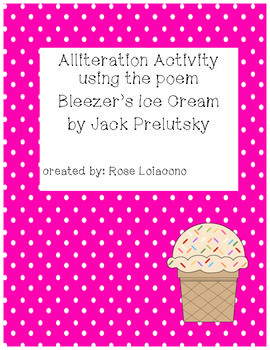 Alliteration Activity using Bleezer's Ice Cream