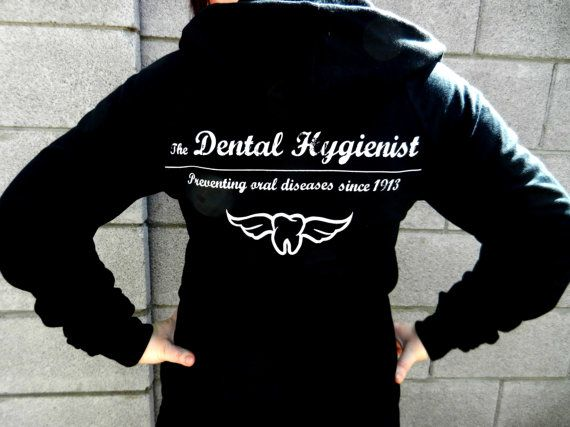Dental Hygienist Hoodie In Black By Kadeena On Etsy