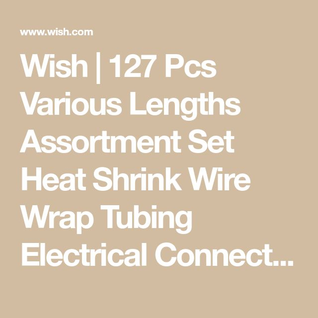 Wish | 127 Pcs Various Lengths Assortment Set Heat Shrink Wire Wrap Tubing Electrical Connection Cable