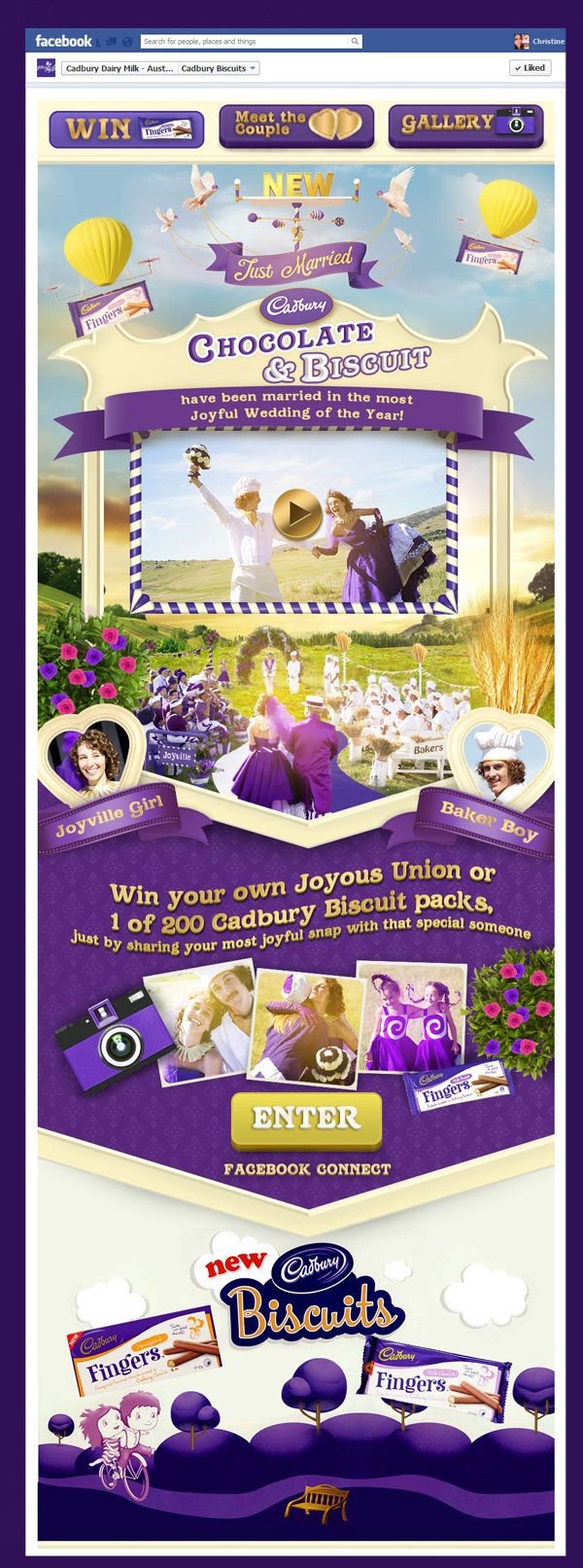 Cadbury's New Chocolate & Biscuit by Christine Calo, via Behance #facebook #design #website
