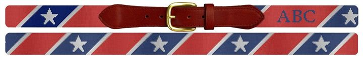 Stars Stripes Needlepoint Custom Belt | NeedlePaint