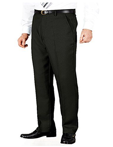 From 16.99:Mens Quality Formal Smart Casual Work Trousers Home/office  Black 48w X 29l