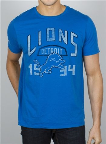 Detroit Lions NFL tee by Junk Food $28 | Vintage look officially licensed NFL tees for men and women at OldSchoolTees.com #NFL