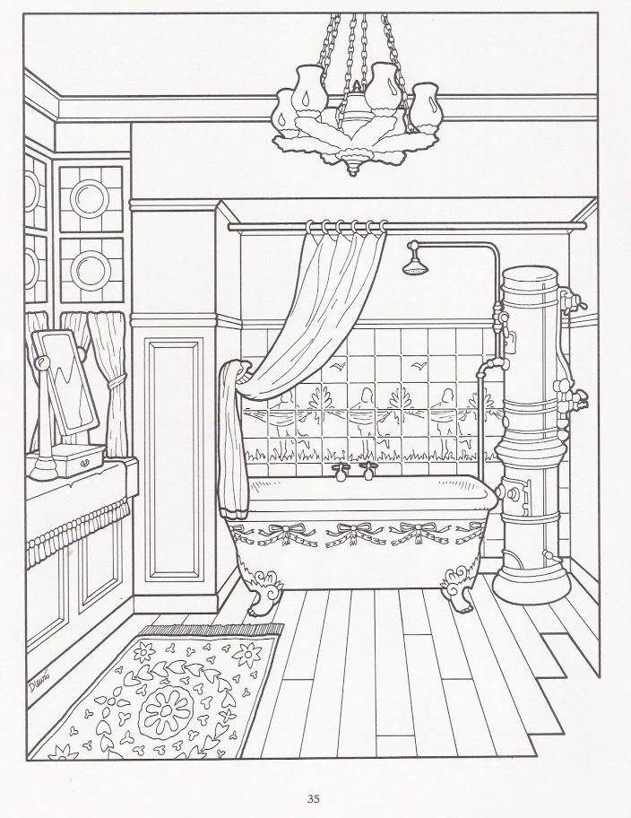 """- Lineart: The Victorian House Coloring Book - Als Line-Art oder Line art (englisch für """"Linien-Kunst"""") bezeichnet man in der Cartoon-, Comic- und Manga-Kunst eine fertig getuschte Zeichnung, die noch nicht koloriert ist. (Quelle:http://t1p.de/wiki-lineart)"""