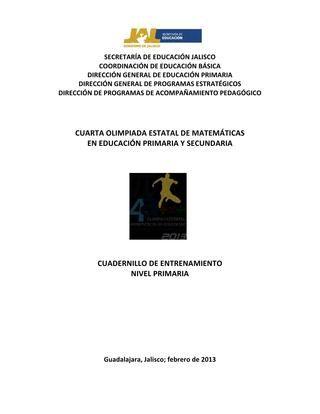 Problemario olimpiada de matematicas (1)  diferentes problemas donde el alumno razona su propio procedimiento a resolver
