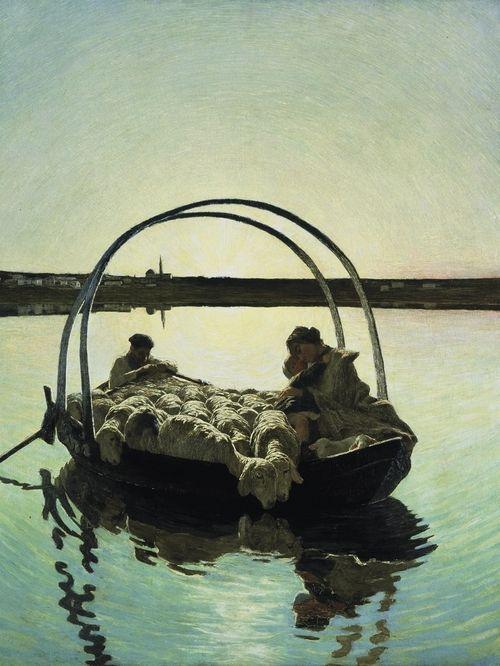 Giovanni Segantini_Ave Maria a trasbordo_1886