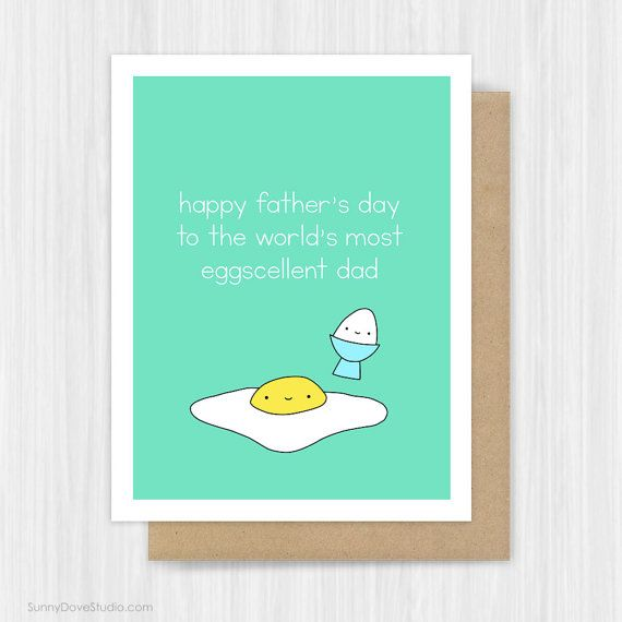 Happy Fathers Day Card For Dad Father Husband Cute Egg Pun Fun