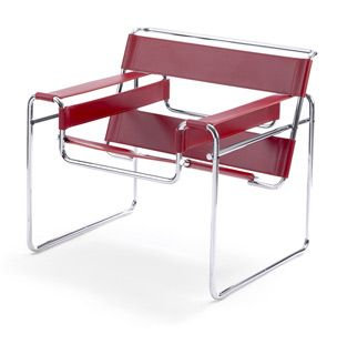Ah, the Wassily Chair.  Designed by Marcel Breuer at the Bauhaus in 1925.  It's actually fairly comfortable though a little cold.  I recall a pair of these being in my parents house when I was growing up.: Wassily Lounges, Lounges Chairs, Marcel Breuer, Wassily Chairs, Breuer Wassily, Tubular Steel, Garage Sales, Design, Wassily Kandinsky