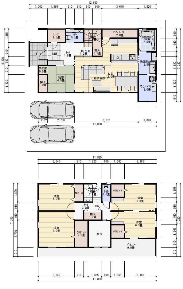 42坪5ldkランドリールームのある間取り 理想の間取り 間取り 35坪