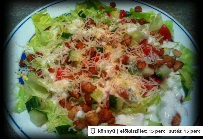 Cézár-féle saláta ahogy Szandi készíti