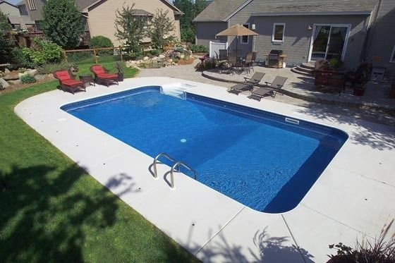 Rectangular inground pools twin cities mn pools for Simple inground pool designs