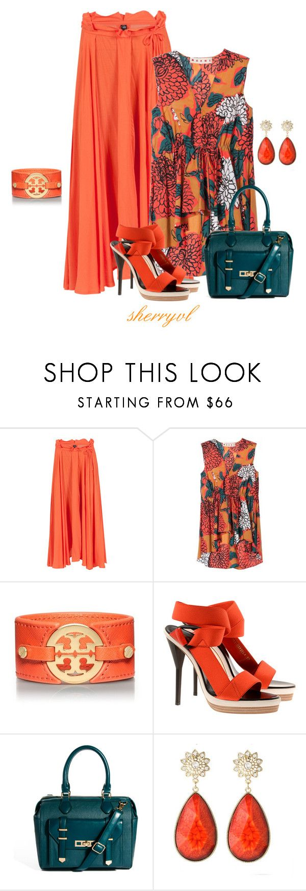 """""""Marni Blouse And A Maxi Skirt"""" by sherryvl ❤ liked on Polyvore featuring Cheap Monday, Marni, Tory Burch, 3.1 Phillip Lim, ASOS and Amrita Singh"""