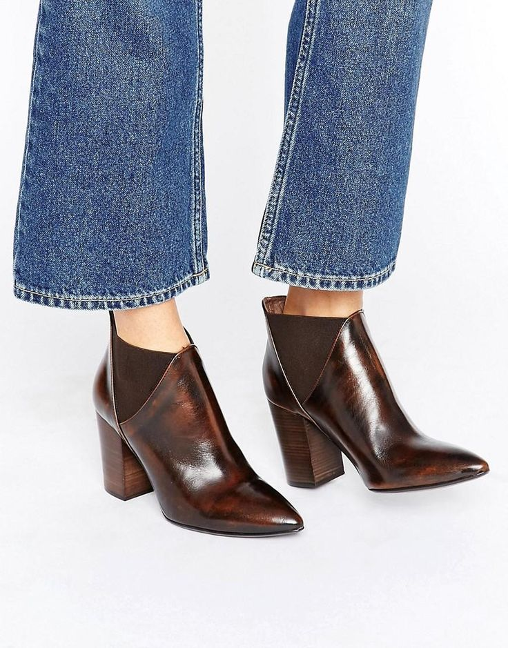Hudson London | Hudson London Brown Leather Crispin Ankle Boot at ASOS