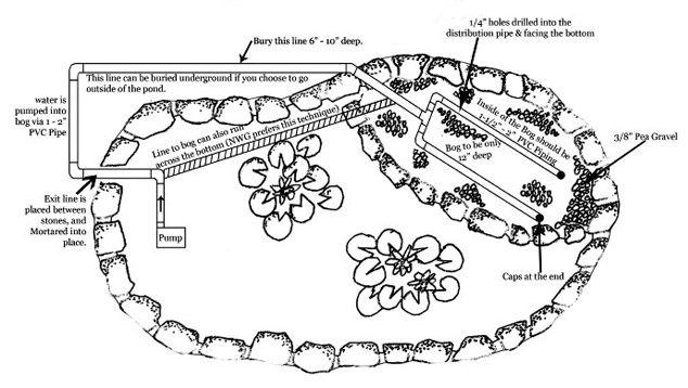 49 best slope drainage images on pinterest garden ideas for Bog filter construction