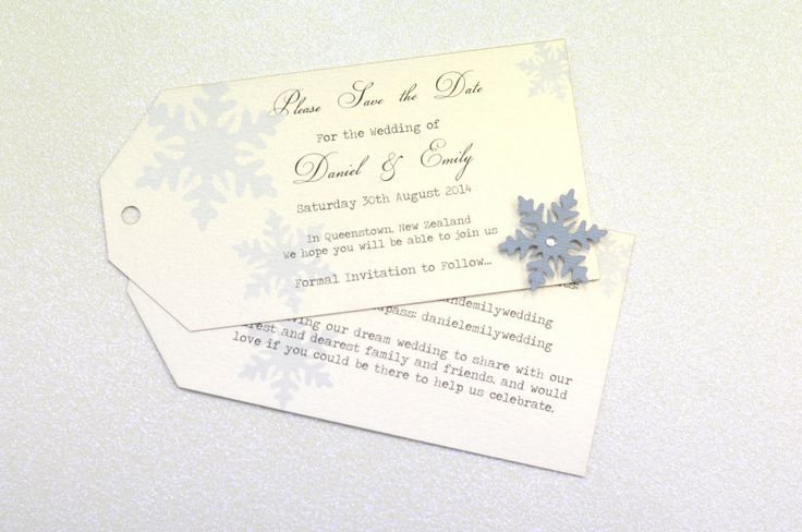 Tag style Save the Date cards with a laser cut snowflake...Winter wedding bliss! www.thepaperempire.com.au