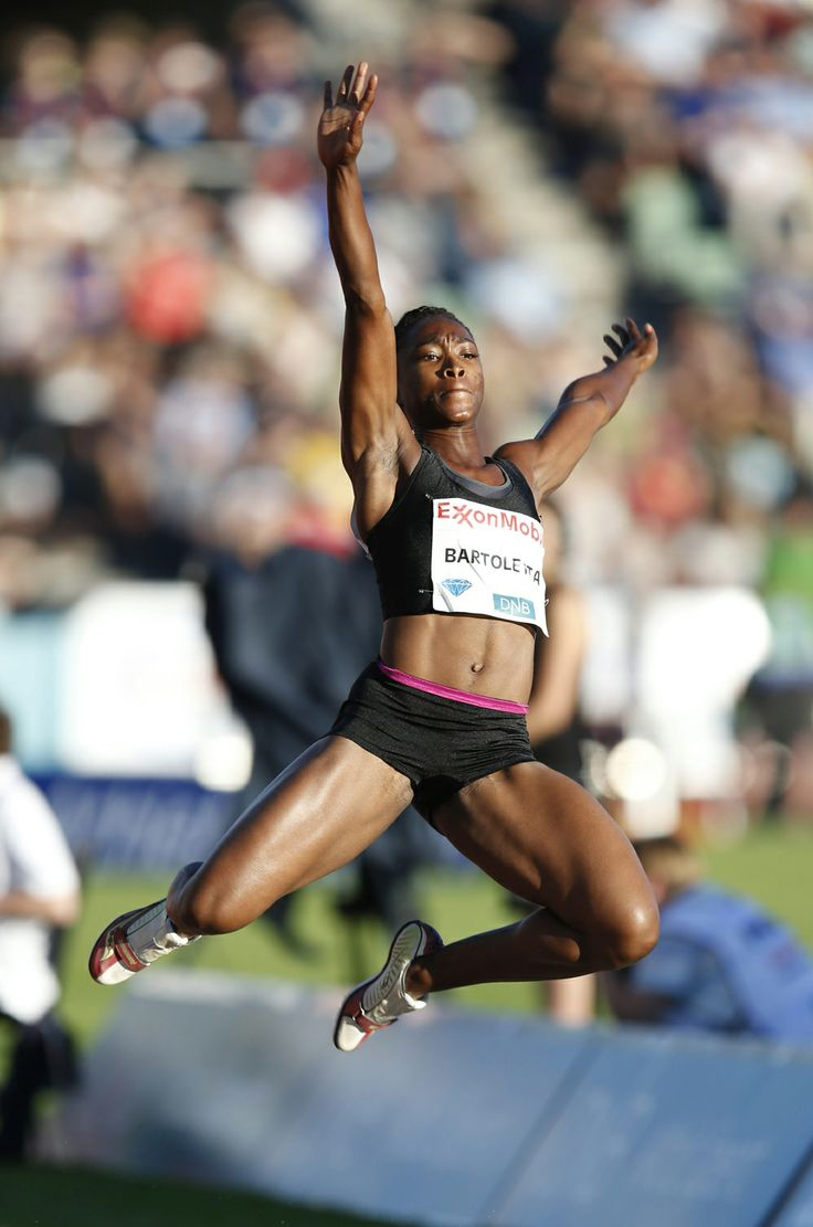 6/12/14 OSLO:  USA's Tianna Bartoletta Grabs Long Jump Gold at the ExxonMobil Bislett Games on Wed evening!! Tianna leapt 7.02m in the 2nd rd of the long jump & her furthest leap was enough to grab victory. The 2006 World Indoor Champion finished comfortably ahead of GB's World Indoor 4th-placer, Shara Proctor w/ 6.78m in the 4th rd.