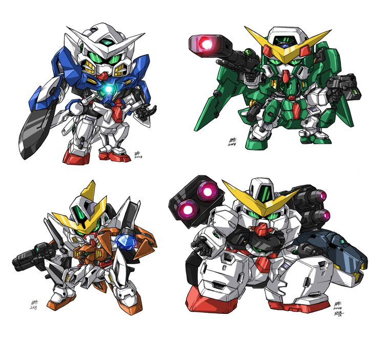 SD Gundam 00 Group by Nidaram.deviantart.com on @deviantART