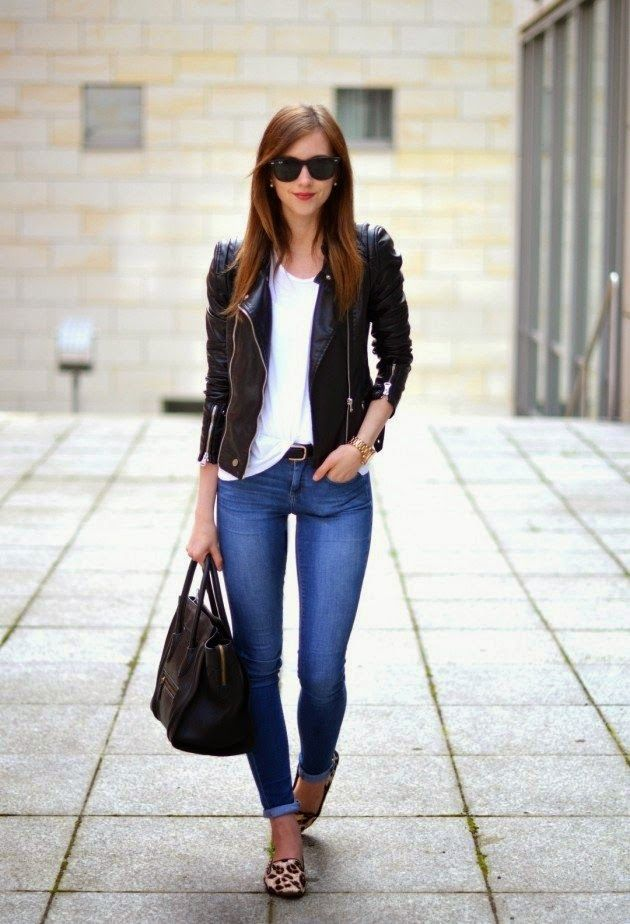 Black Leather Jacket Women This Spring how-to-style-jacket-