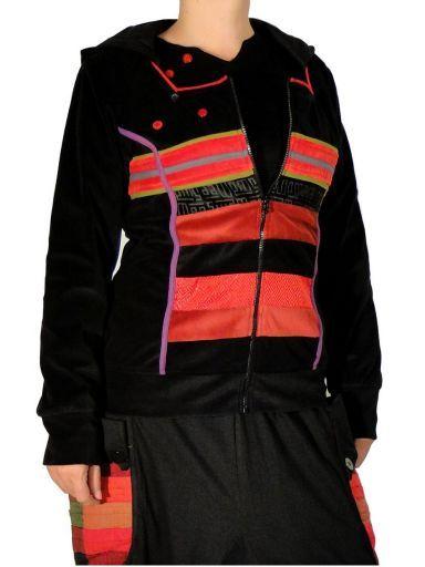 Veste doublée en velours lisse. Des vêtements ethniques chics pour un look différent … Rendez-vous sur notre site www.echoppe-du-monde.com pour découvrir notre e-boutique exotique.