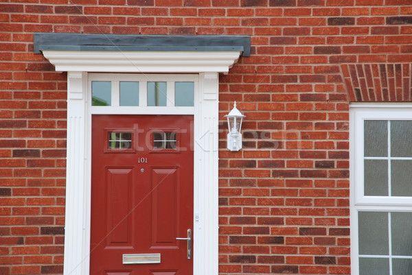 Red brick house (detail) stock photo © Luis Santos (luissantos84 ...