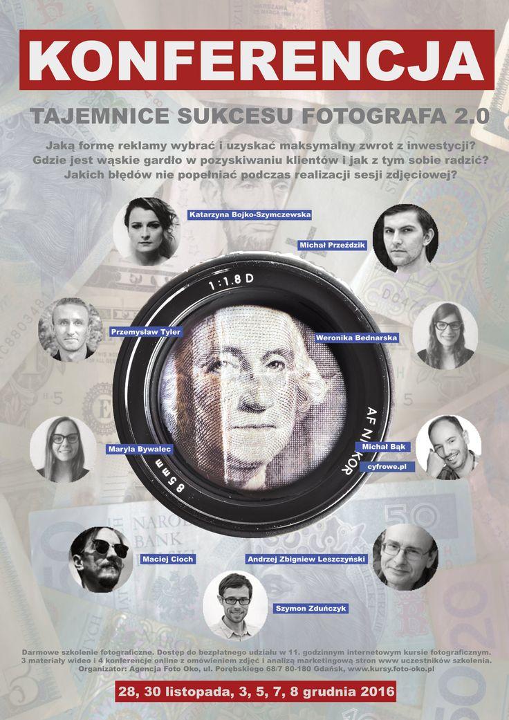 Konferencja Sukces Fotografa 2.0 - relacja Na przełomie listopada i grudnia 2016 roku odbyła się prawdopodobnie pierwsza w Polsce internetowa konferencja dla fotografów zawodowych. Szkolenie Tajemnice Sukcesu Fotografa 2.0 było całkowicie bezpłatna. Dotyczyło m.in. skutecznych form reklamy…