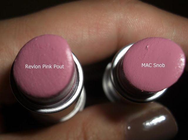 MAC Snob vs Revlon Pink Pout - makeup dupes