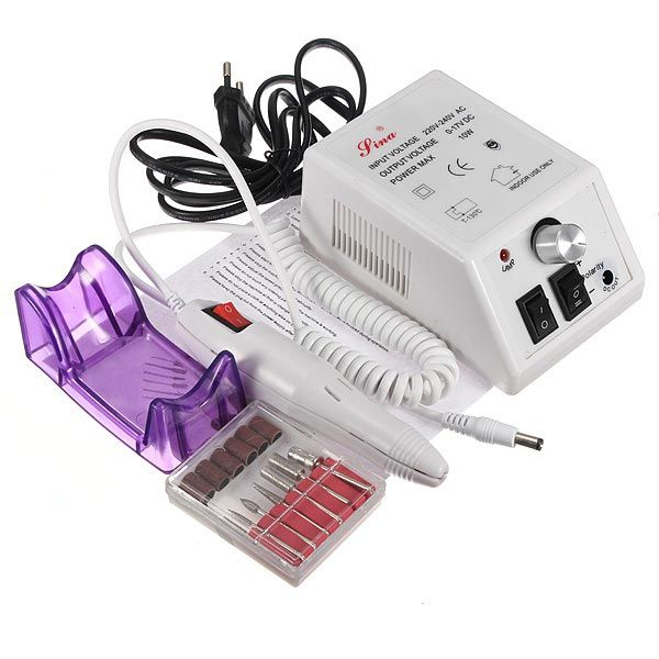220v pro uñas taladro de la máquina arte de manicura kit de pedicura eléctrico