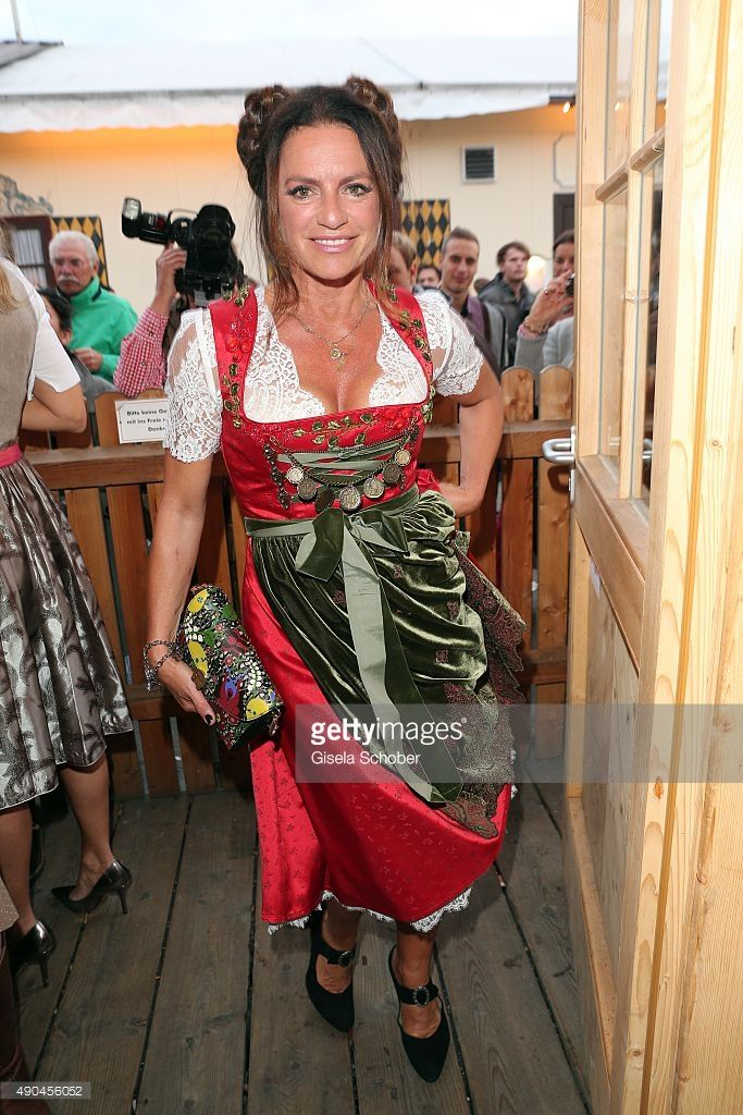 Christine Neubauer attends the Aigner Wiesn during the Oktoberfest 2015 at Vinzenzmurr Metzgerstubn on September 28, 2015 in Munich, Germany. Aigner celebrates it's 50th anniversary this year with various events.