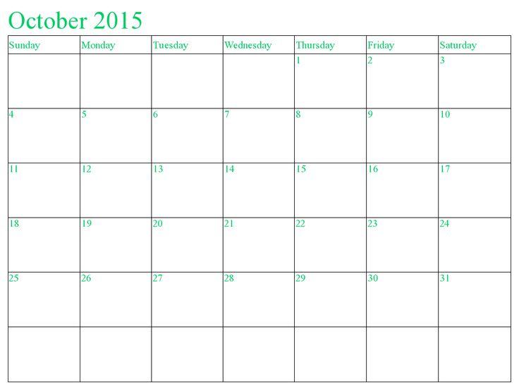 Blank calendar template 2015 hakkında Pinterestu0027teki en iyi 20+ fikir - calendar template word