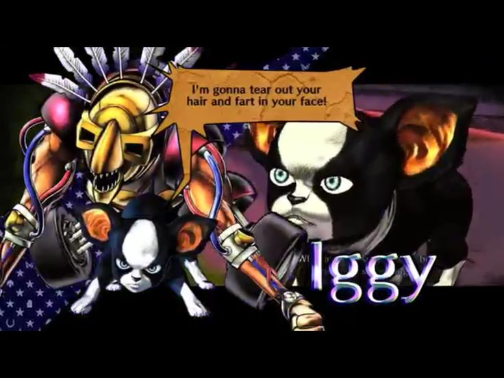 screenshot Iggy of the videogame Jojo's All Star Battle