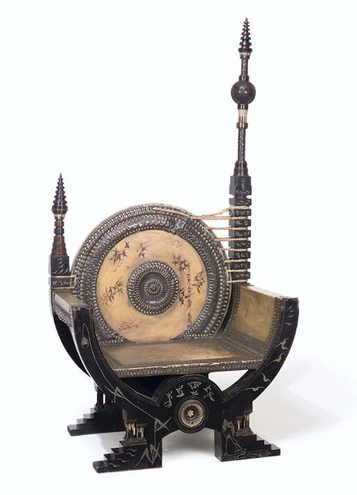Carlo Bugatti, 1900. This piece really makes me understand steampunk.