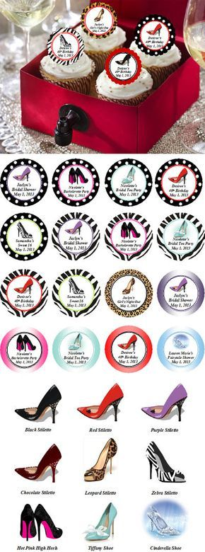 Stiletto High Heel Shoe Cupcake Toppers