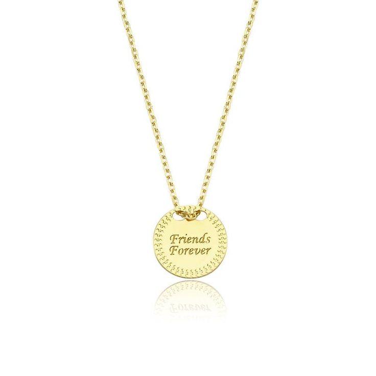 """Altın """"Friends Forever"""" Kolye #altınbaşlife #kolye #altın #takı #tasarım #hediye #gift"""