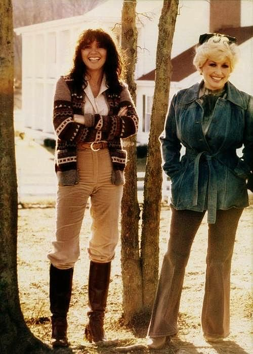 Linda Ronstadt & Dolly Parton @ Dolly's house in Tennessee