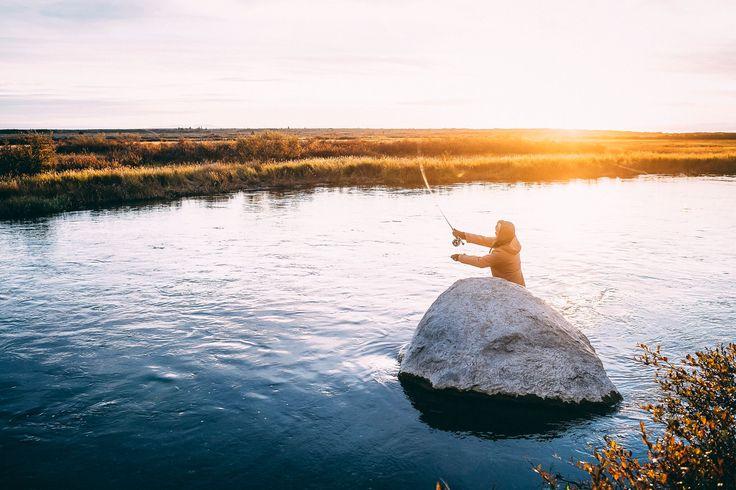 Wild Ark Ambassador, Mick Fanning fishing for trout in Alaska. Photo by Kirstin Scholtz