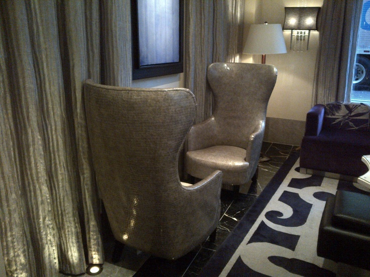 Tiger Leathers Old Hollywood Leather Was Used To Make These Glamorous Chairs For Nine Zero Hotel In Boston Massachusetts