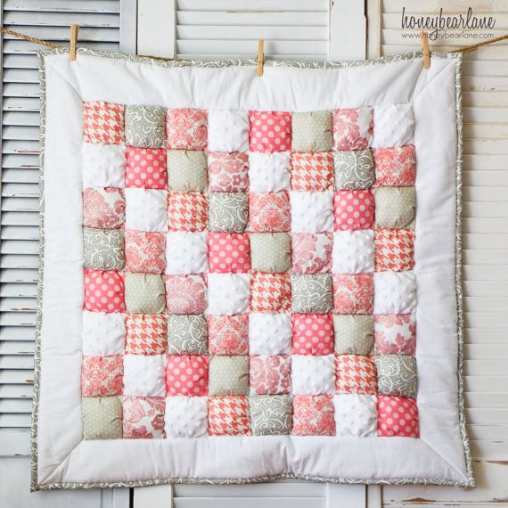 Sophie 2 Puff Quilt READY TO SHIP by HoneybearLane on Etsy, $150.00