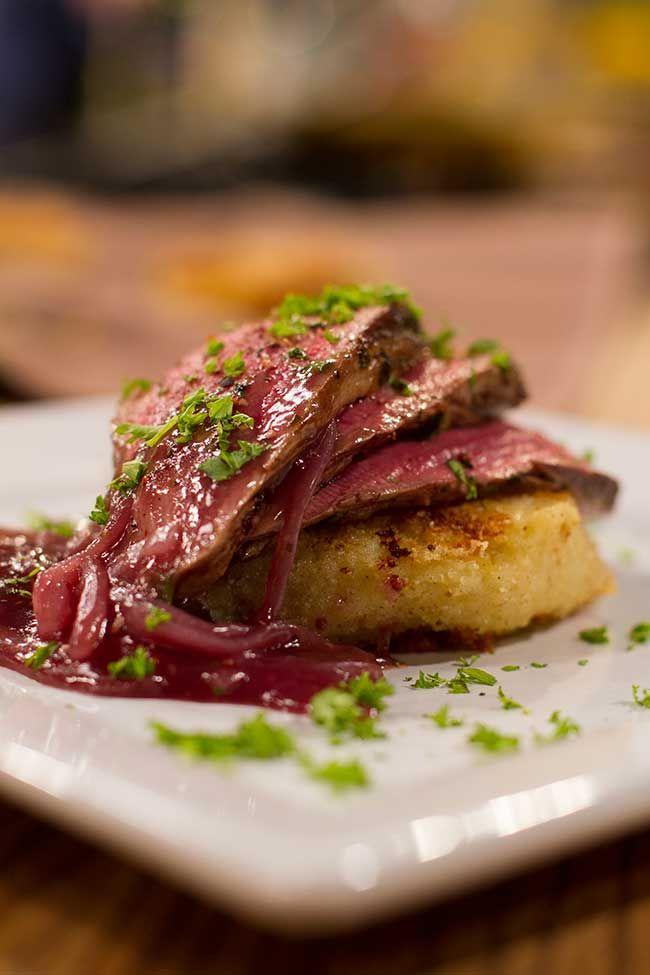 Die Nataniel Tafel | Biefstuk, Patatkoekies en Rooiwynsous