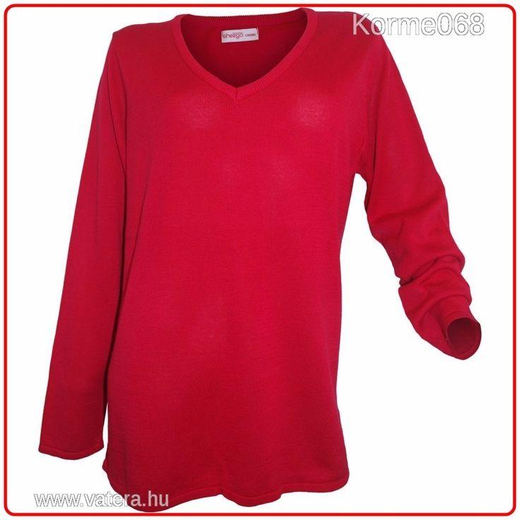 Sheego v-nyakú Moletti piros pulóver  56/58   4XL       ÚJ !    Minőségi márka! Több méretben! - 3700 Ft - Nézd meg Te is Vaterán - Női pulóver - http://www.vatera.hu/item/view/?cod=2544862463