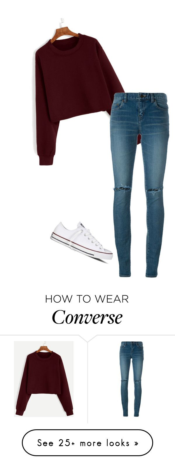 """"" by dancer0202 on Polyvore featuring Yves Saint Laurent and Converse"
