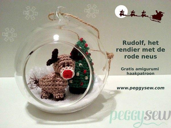 Rudolf rendiertje - gratis amigurumi haakpatroon