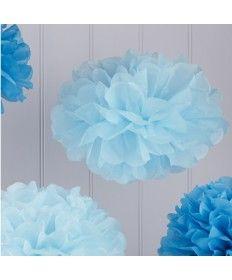 Fluffy Διακοσμητικό Μπλε-Σιέλ 5τεμ.