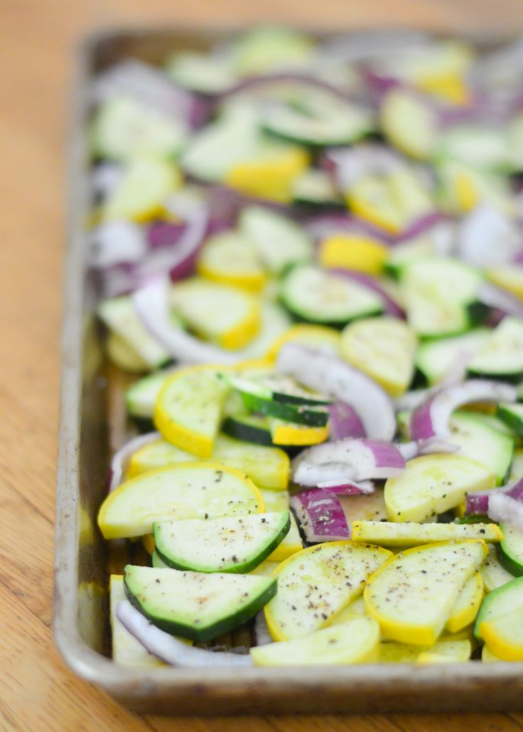 Purple, Green, + Yellow Dish for Mardi Gras | Roasted Squash + Red Onion w. Parmesan Cheese Baked Side Dish Recipe | Luci's Morsels :: LA Food Blog