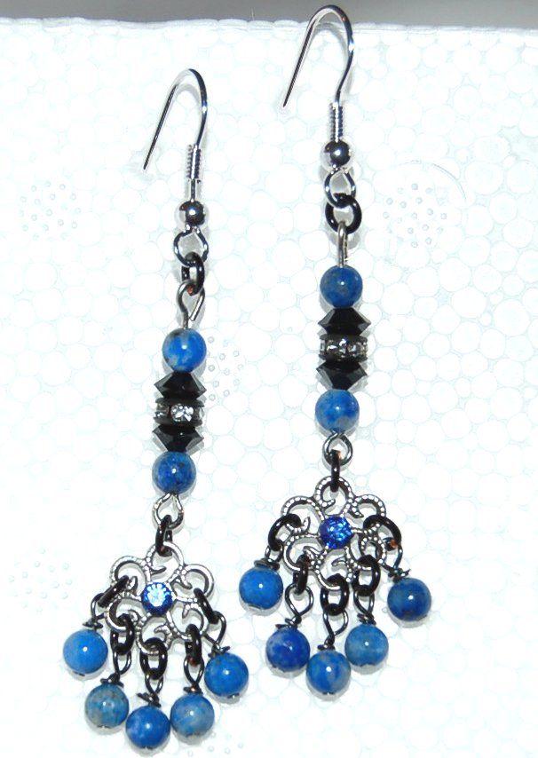 Lapis Lazuli earrings from designverkstad.se