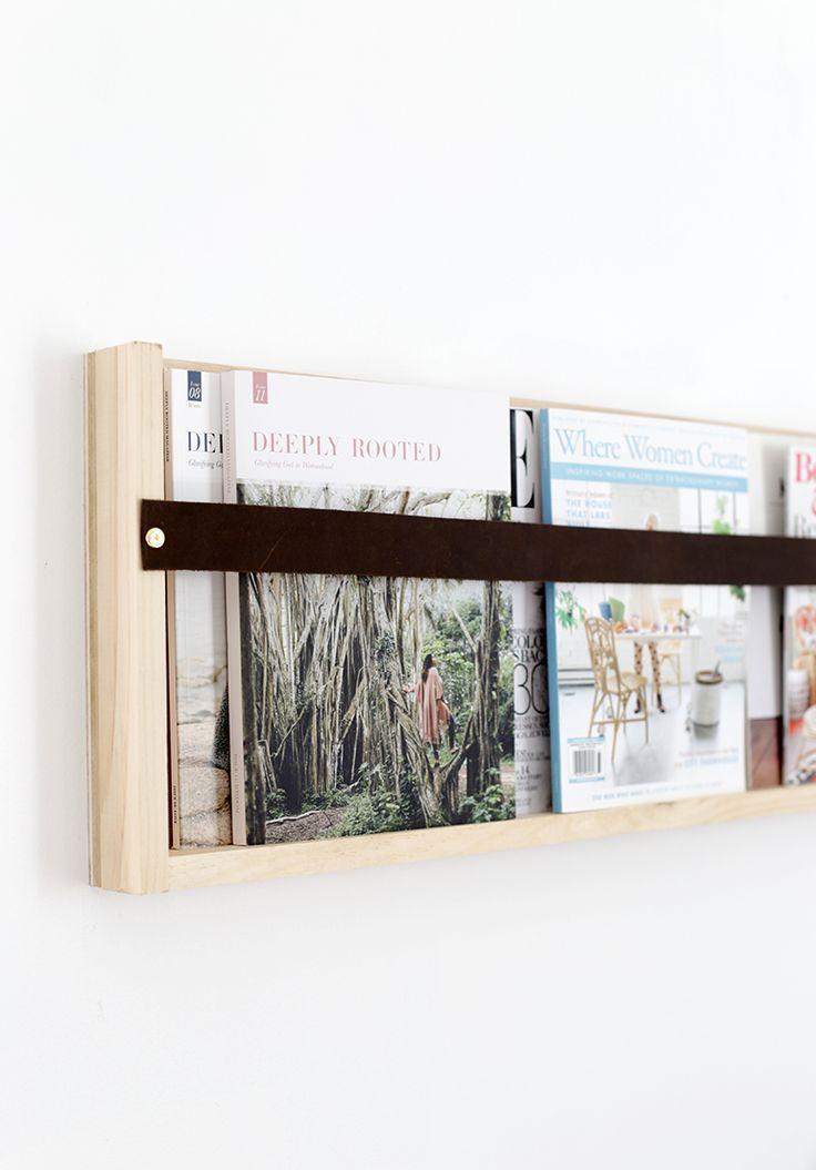 DIY Plywood & Leather Magazine Rack