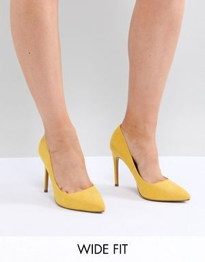 87ae0b622ce ASOS DESIGN Paris Wide Fit Pointed High Heels