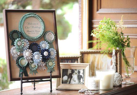 だれもが認める結婚式の定番万能アイテム♡【ロゼット】の可愛い活用術まとめ*にて紹介している画像