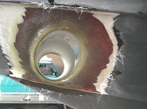 grofe inbouw voor de afwerking 100% laminaat,geen plamuur